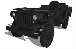3D Model of Willys Ford WWII Jeep